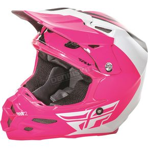 Fly Racing Pink/White/Black F2 Carbon Pure Helmet - 73-4129L