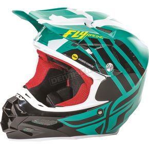 Fly Racing Teal/Black/White F2 Carbon MIPS Zoom Helmet - 73-4208X