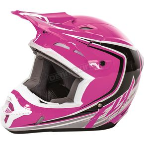 Fly Racing Pink/Black/White Kinetic Fullspeed Helmet - 73-3379M