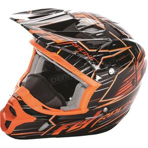 Fly Racing Orange/Black Kinetic Pro Cold Weather Speed Helmet - 73-4931M