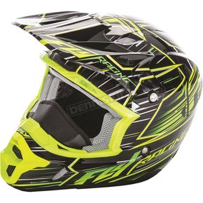 Fly Racing Hi-Vis/Black Kinetic Pro Cold Weather Speed Helmet - 73-49322X
