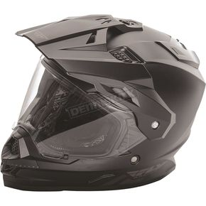 Fly Racing Matte Black Trekker Helmet - 73-7011S