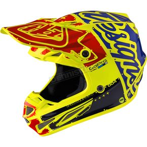 Troy Lee Designs Yellow Factory SE4 Carbon Helmet - 102008502