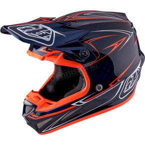 Troy Lee Designs Navy Pinstripe SE4 Carbon Helmet - 102018306