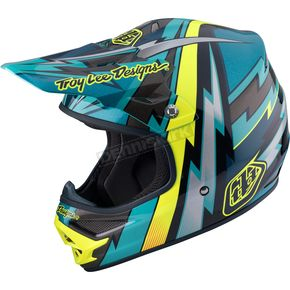 Troy Lee Designs Green Air Beams Helmet - 117127801