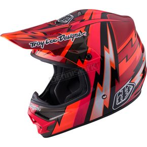 Troy Lee Designs Red Air Beams Helmet - 117127402