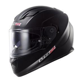 LS2 Matte Black Stream FF328 Full Face Helmet - 328-1013