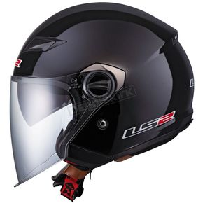 Black OF569 Track Helmet with Sunshield