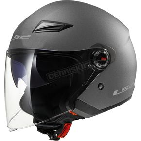 LS2 Gunmetal OF569 Track Helmet with Sunshield - 569-3036