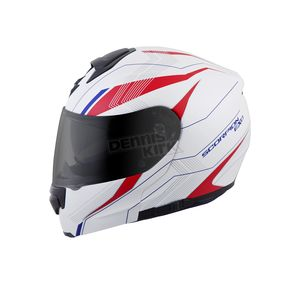 Scorpion White/Red/Blue EXO-GT3000 Sync Modular Helmet - 300-1035
