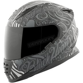 Speed and Strength Black/Gray Black Heart SS1310 Helmet - 874861