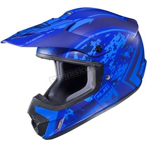 HJC Flat Blue MC-2F CS-MX 2 Squad Helmet - 55-5726
