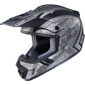 HJC Flat Silver/Black MC-5F CS-MX 2 Squad Helmet - 55-5759