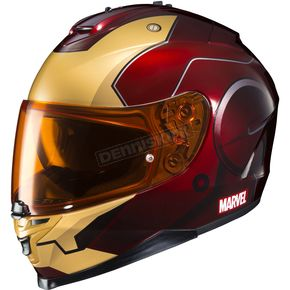 HJC Metallic Maroon/Gold Marvel MC-1 IS-17 Ironman Helmet - 58-5218