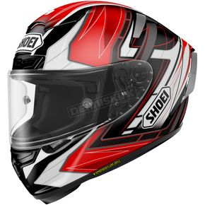 Shoei Helmets Red/Black/White X-Fourteen Asail TC-2 Helmet - 0104-1101-08