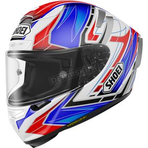 Shoei Helmets Blue/White/Black X-Fourteen Asail TC-2 Helmet - 0104-1102-07