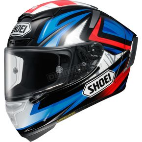 Shoei Helmets Blue/Red/Black X-Fourteen Bradley 3 TC-1 Helmet - 0104-1301-03