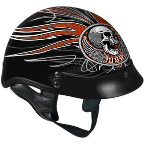 Hot Leathers Black Stitches Helmet - HLD1033XL
