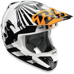 Thor Orange/White Dazzle Helmet - 0110-4707