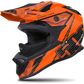 509 Matte Black/Orange Altitude Carbon Fiber Helmet - 509-HEL-ACO-LG