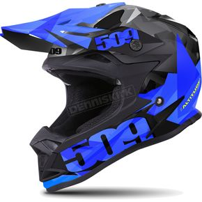 509 Matte Black/Blue Triangle Altitude Helmet - 509-HEL-ABT-2XL