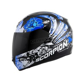 Scorpion Black/Blue EXO-R410 Novel Helmet - 41-10667