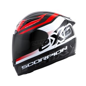 Scorpion Black/Red EXO-R2000 Fortis Helmet - 200-7244
