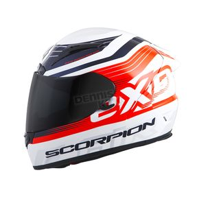 Scorpion White/Orange EXO-R2000 Fortis Helmet - 200-7814