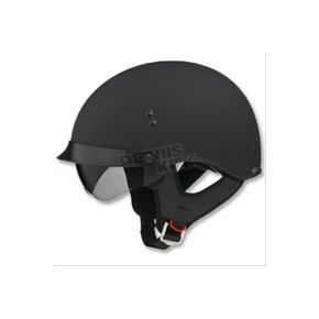 GMax Flat Black GM65 Full Dress Half Helmet - G9650076