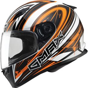 GMax White/Hi-Viz Orange/Black FF49 Warp Street Helmet - G7491695 TC-26