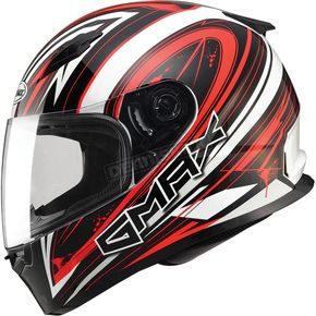 GMax White/Red/Black FF49 Warp Street Helmet - G7491205 TC-1