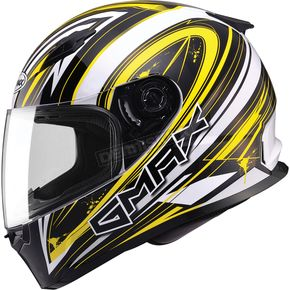 GMax White/Yellow/Black FF49 Warp Street Helmet - G7491237 TC-4
