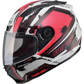 GMax Red/White/Black FF88 X-Star Helmet - 72-4771L
