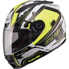 GMax White/Hi-Viz Yellow/Black FF88 X-Star Helmet - 72-47742X