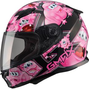 GMax Youth Black/Pink GM49Y Attack Street Helmet - G7494400