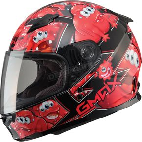GMax Youth Black/Red GM49Y Attack Street Helmet - G7494200