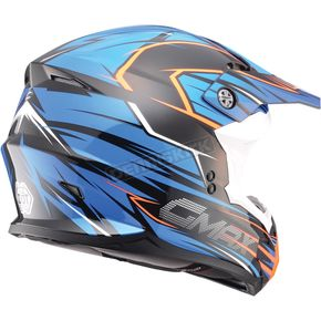 GMax Blue/Hi-Viz Orange MX86 Helmet - 72-6858X