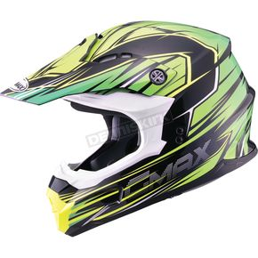 GMax Black/Green/Hi-Viz Yellow MX86 Raz Helmet - 72-6854X