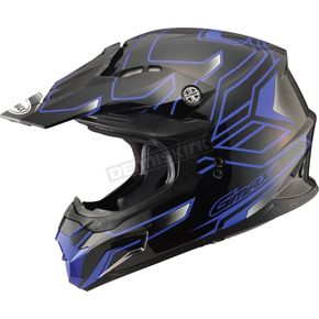 GMax Black/Blue MX86 Step Helmet - 72-6843S
