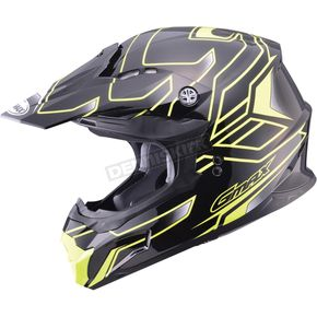 GMax Black/Hi-Viz Yellow MX86 Step Helmet - 72-6844L