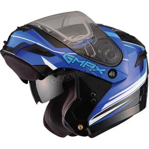 GMax Black/Blue GM54S Terrain Modular Snowmobile Helmet - 72-61422X