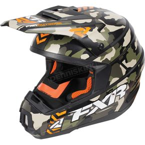 FXR Racing Army Urban Camo/Orange Torque Squadron Helmet - 170619-7630-13