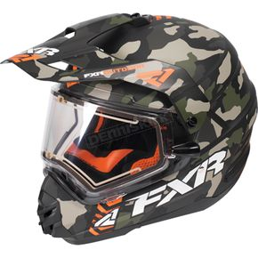 FXR Racing Army Urban Camo/Orange Torque X Squadron Helmet w/Electric Shield - 170613-7630-16