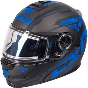 FXR Racing Black/Blue Fuel Modular Elite Helmet w/Electric Shield - 170624-1040-04