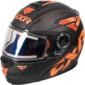 FXR Racing Black/Flo Orange/Charcoal Fuel Modular Elite Helmet w/Electric Shield - 170624-1033-19