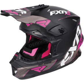 FXR Racing Black/Fuchsia/Charcoal Blade Vertical Helmet - 170602-1090-16