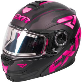 FXR Racing Black/Fuchsia/Charcoal Fuel Modular Elite Helmet w/Electric Shield - 170624-1090-16