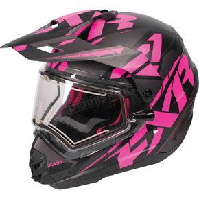 FXR Racing Black/Fuchsia/Charcoal Torque X Core Helmet w/Electric Shield - 170610-1090-19