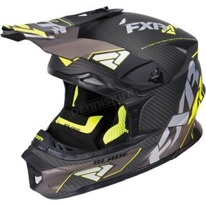 FXR Racing Black/Hi-Vis Blade Carbon Helmet - 170600-1065-10