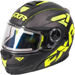 FXR Racing Black/Hi-Vis/Charcoal Fuel Modular Elite Helmet w/Electric Shield - 170624-1065-16